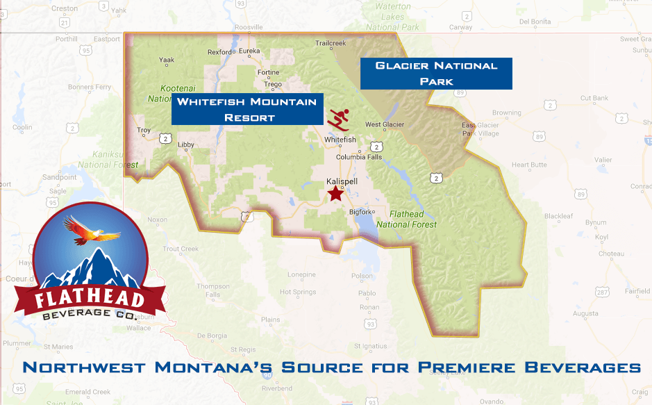Flathead Beverages Distribution Territory